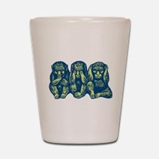 See Hear Speak No Evil Monkey Shot Glass