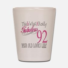 92nd Birthday Gifts Shot Glass