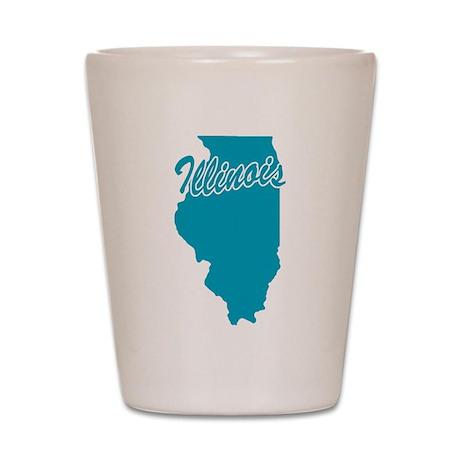 State Illinois Shot Glass