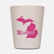 Pink Michigan Shot Glass