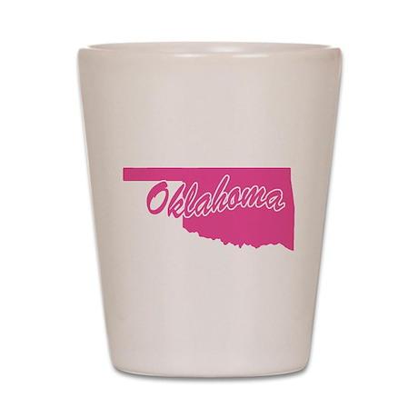 Pink Oklahoma Shot Glass