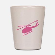 Pink Helicopter Shot Glass