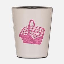 Pink Picnic Basket Shot Glass