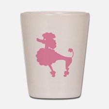 Poodle in Pink Shot Glass