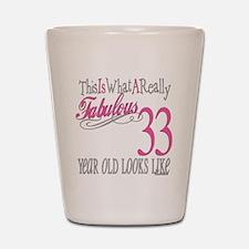 33rd Birthday Gifts Shot Glass