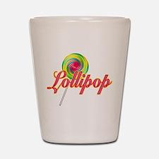 Text Lollipop Shot Glass