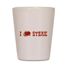I Love Steak Shot Glass