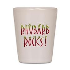 Rhubarb Rocks Shot Glass