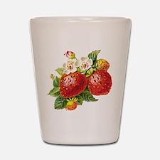 Retro Strawberry Shot Glass