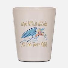 Angel Attitude 100th Shot Glass