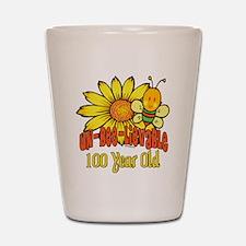Un-Bee-Lievable 100th Shot Glass