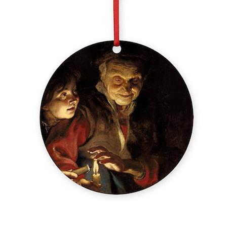 Night Scene Ornament (Round)