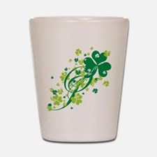 Shamrocks and Swirls Shot Glass