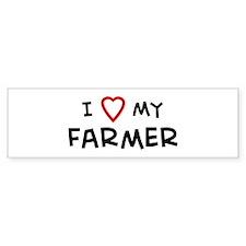 I Love Farmer Bumper Bumper Sticker