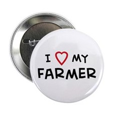 I Love Farmer Button