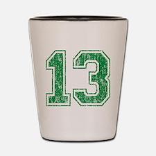 Retro 13 Number Shot Glass