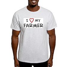 I Love Farmer Ash Grey T-Shirt