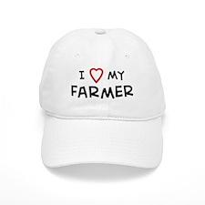 I Love Farmer Baseball Cap