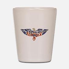 Retro Eagle and USA Flag Shot Glass