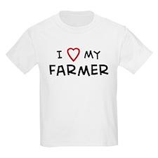 I Love Farmer Kids T-Shirt