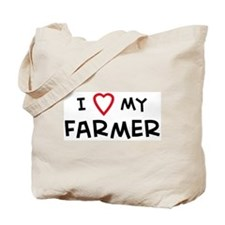 I Love Farmer Tote Bag
