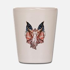 Vintage American Flag Art Shot Glass