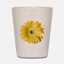 Pop Art Yellow Daisy Shot Glass