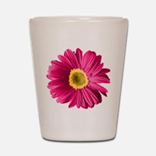 Pop Art Fuchsia Daisy Shot Glass