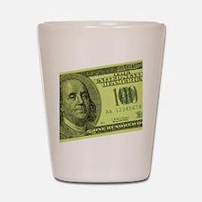 Hundred Dollar Bill Shot Glass