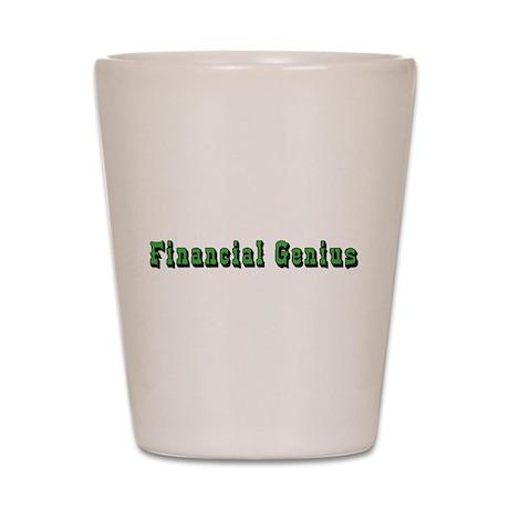 Financial Genius Shot Glass