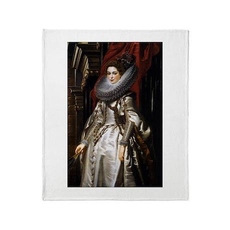 Portrait of Marchesa Brigida Throw Blanket