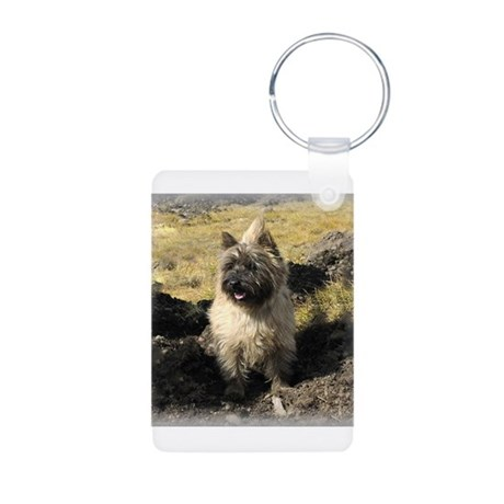 Cairn Terrier Aluminum Photo Keychain