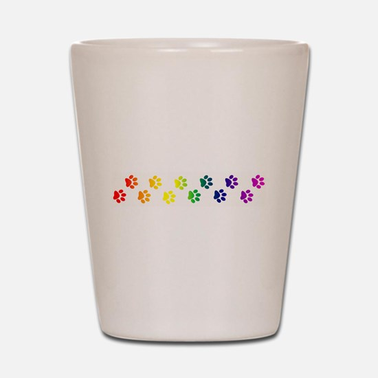 Paws All Over You Shot Glass