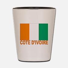 Cote d'Ivoire Flag Shot Glass