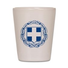 Greece Coat of Arms Shot Glass