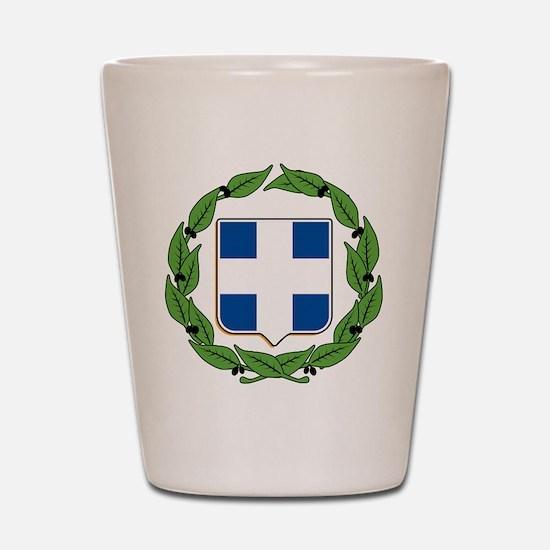 Greek Coat of Arms Shot Glass