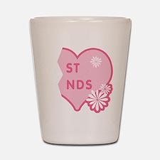 Pink Best Friends Heart Right Shot Glass