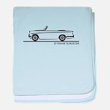Triumph Herald Convertible baby blanket