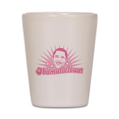 Pink Obamalicious Shot Glass