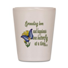 Spreading Love Butterfly Shot Glass