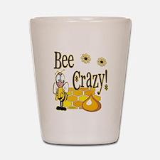 Bee Crazy Shot Glass
