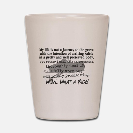 Journey to the Grave Shot Glass