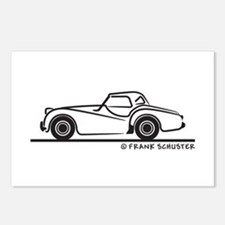 Triumph TR2 Rag Postcards (Package of 8)