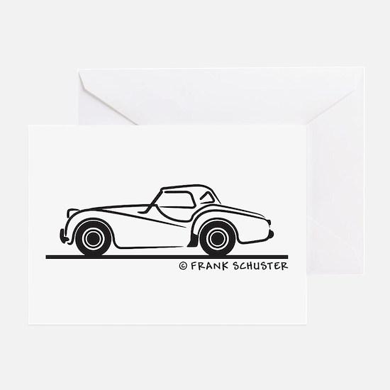 Triumph TR2 Rag Greeting Card