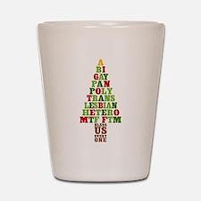 Diversity Christmas Tree Shot Glass