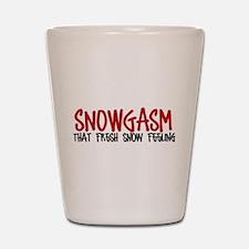 Snowgasm #2 Shot Glass