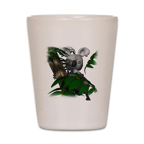 Koala Bear in Eucalyptus Tree Shot Glass