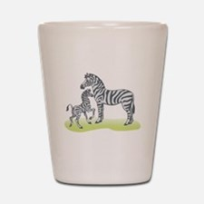 Mommy and Baby Zebra Shot Glass