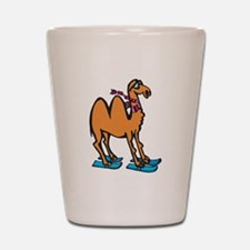 Silly Skiing Camel Shot Glass