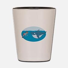 Funny Shark Encounter Shot Glass